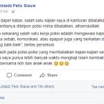Ustad Felix Siauw: Salah satu Tugas kepolisian adalah Mengawasi Kajian