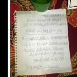 Bunuh Diri | Seorang Bapak Meninggalkan Surat Warisan Untuk Keluarga, Berikut isinya.